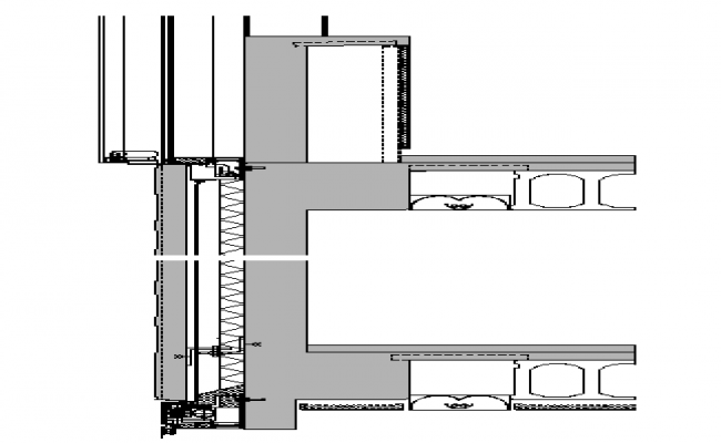 Wall Construction Plan Detail dwg file