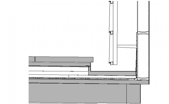 2 Joint Wall section plan dwg file