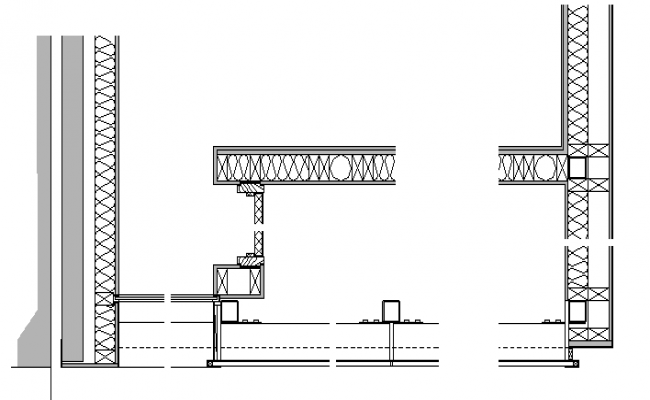 Joint Wall Section Plan Detail dwg file