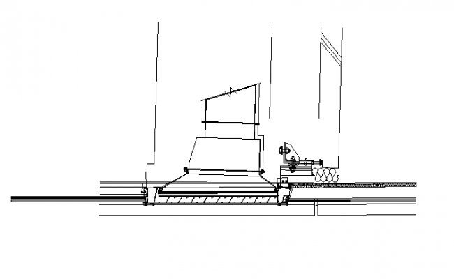 Two wall Joint section plan dwg file