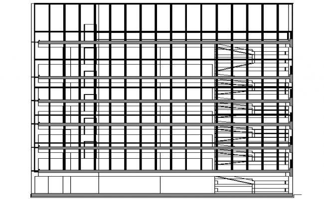 Wall Construction Plan dwg file