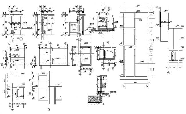 Wall Design layout Plan CAD Drawing