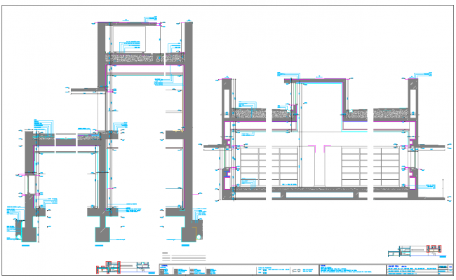 Wall Extension plan dwg file