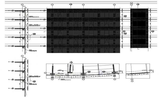 Wall Section,Plan, Elevation AutoCAD File Free