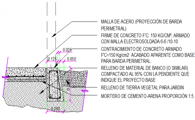 Wall construction details of office building dwg file