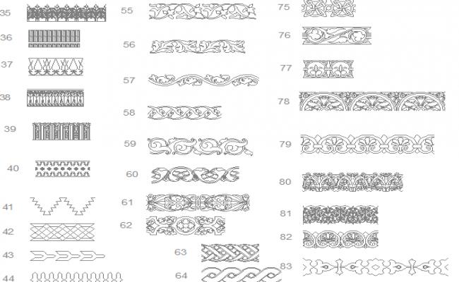 Wall design common blocks details dwg file