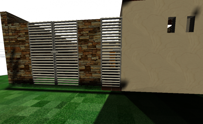 Wall gate 3 D plan detail