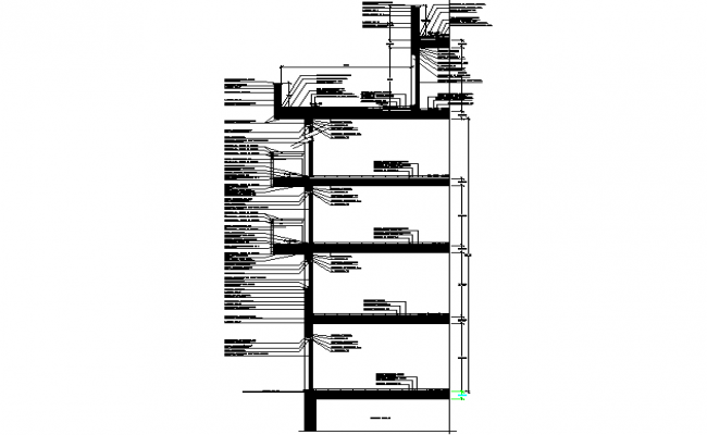Wall in column detail dwg file