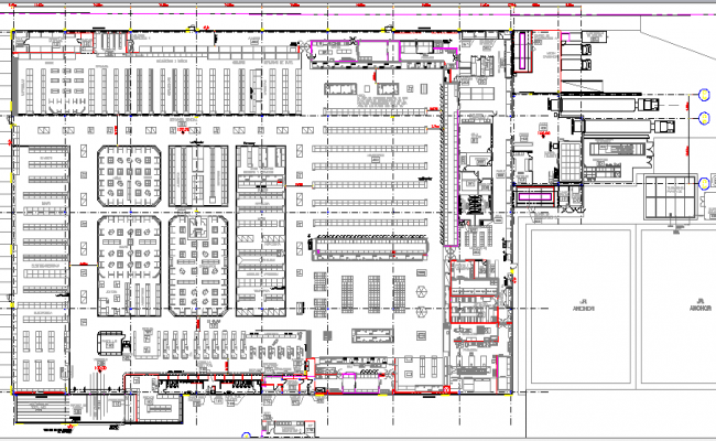 Wall mart detailed architecture layout plan dwg file