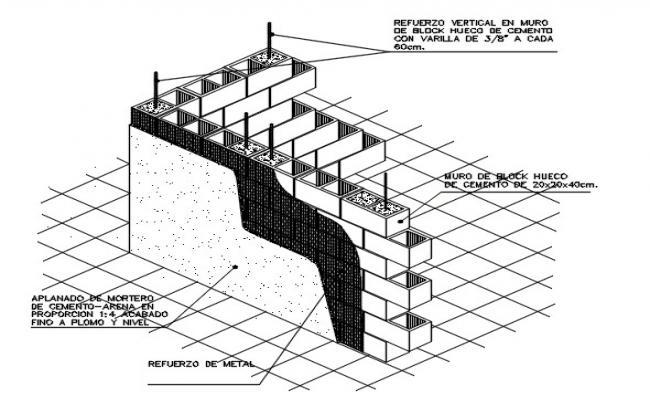 Wall of blocks