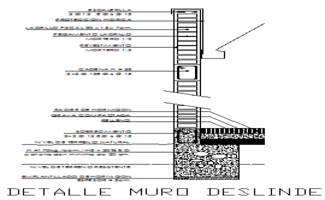 Wall section design drawing