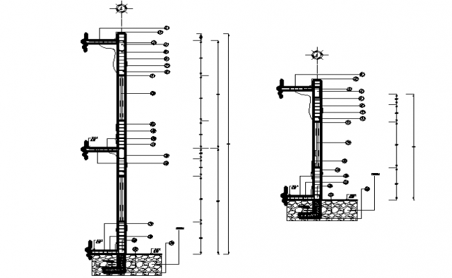 Wall Section In AutoCAD Drawings