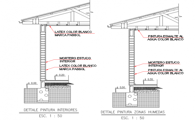 Wall section plan layout file