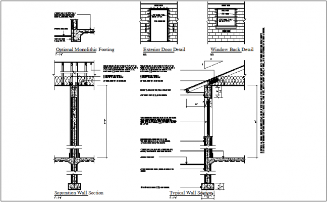 Wall Section Plan View Detail Dwg Files