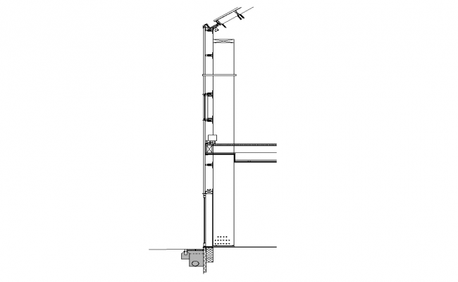 Wall structure detail 2d view autocad file