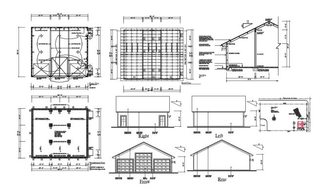 Ware House Building Plan DWG File