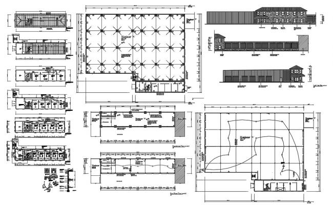 Ware House Building Project DWG File