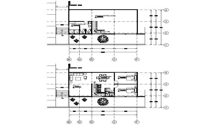 Ware house plan detail dwg file