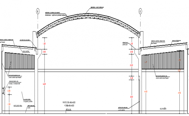 Warehouse Architecture Design and Elevation dwg file