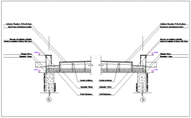 Warehouse automatic existing door section view detail dwg file