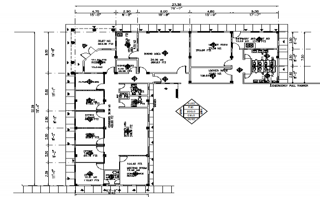 Warehouse office sand architect on planes detail dwg file