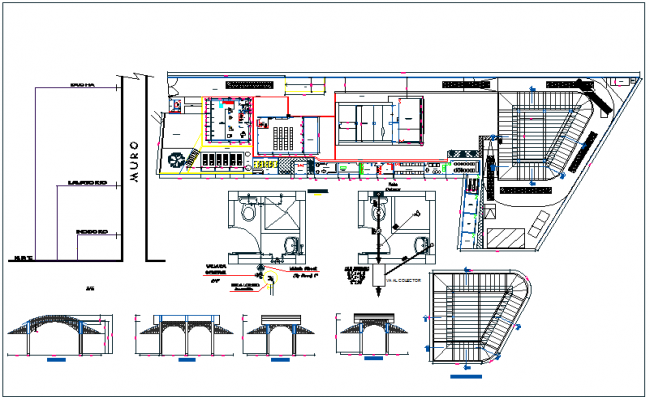 Warehouse plan detail view dwg file for Draw layout warehouse