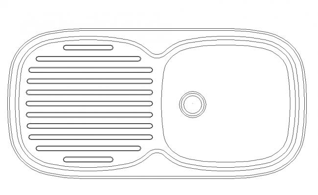 Wash Basin 2D Block Design