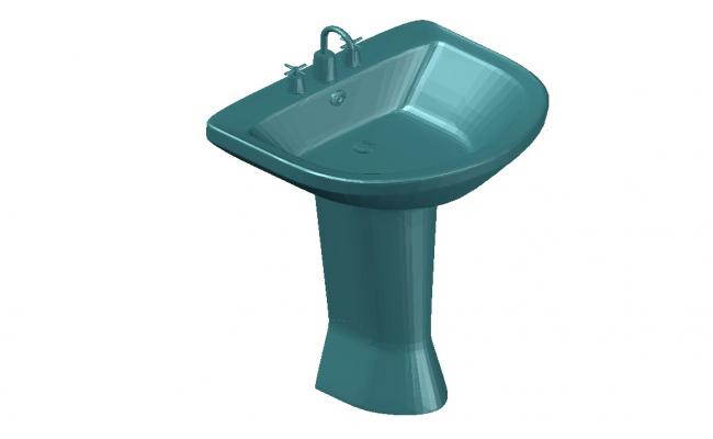 Wash Basin 3D Model CAD File Free Download