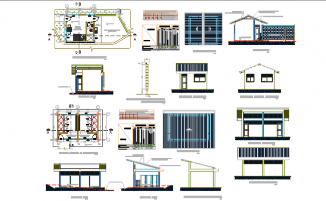 Wash room plan and elevation working plan detail dwg file