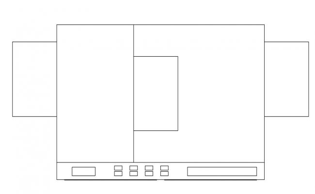 Washing machine top view design block dwg file