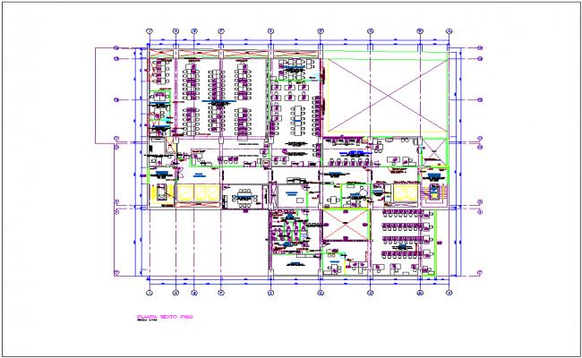 Washington office building plan dwg file