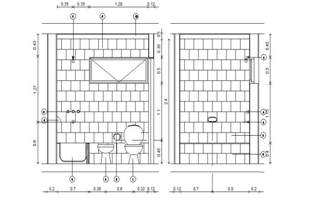 Washroom Design CAD File