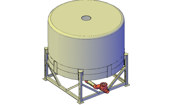 Waste water holding tank 3d detail