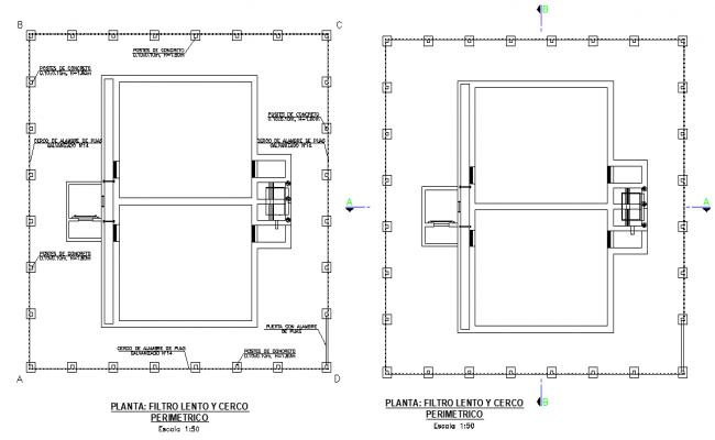 Water Filter plan layout file