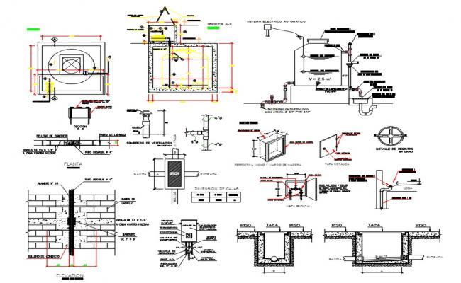 Water Line And Sewer Line DWG File
