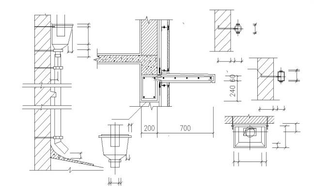 Water Outlet Plumbing Design CAD File