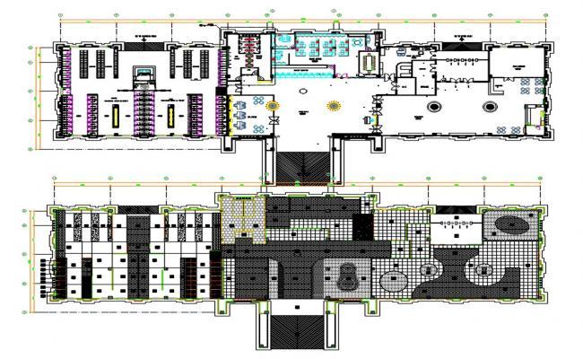 Water Park Floor Plan DWG File