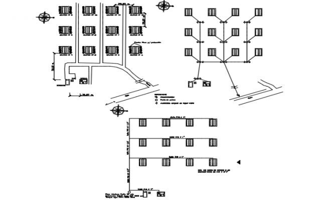 Water distribution line detail dwg file