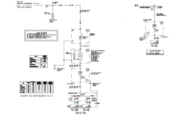 Water flow circuit plan autocad file