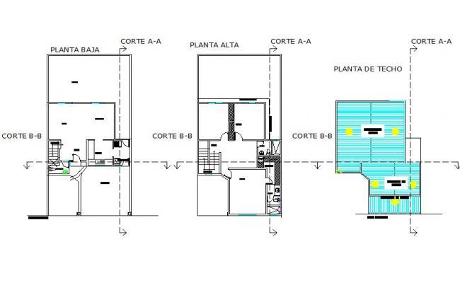 Water installation single housing plan detail dwg file