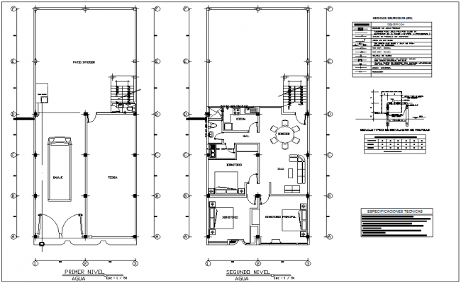 Water line with sanitary view for house floor plan with sanitary view dwg file