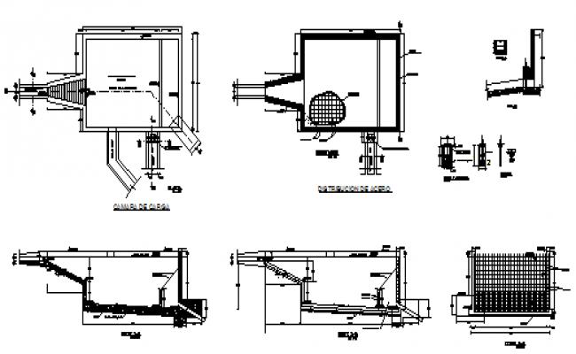 Water loading chamber water taking design drawing