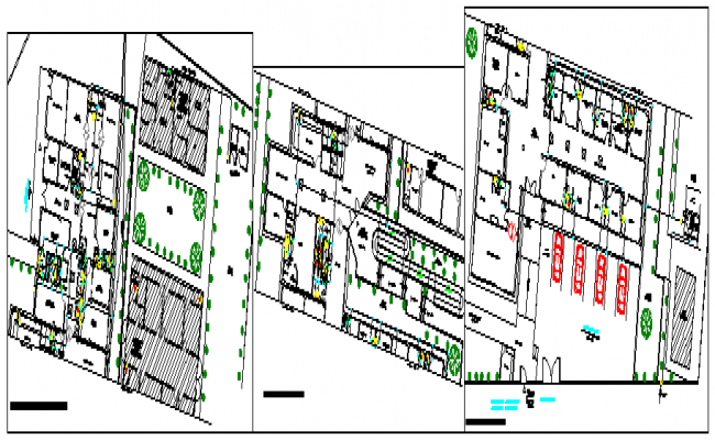 Water networks design in hospital health center design drawing