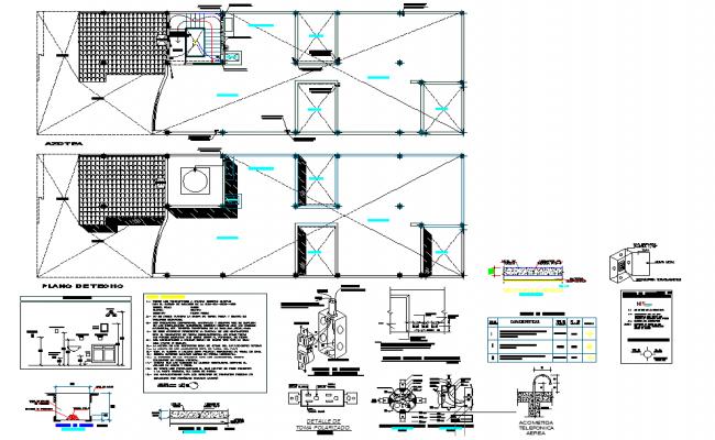 Water pipe house plan detail dwg file