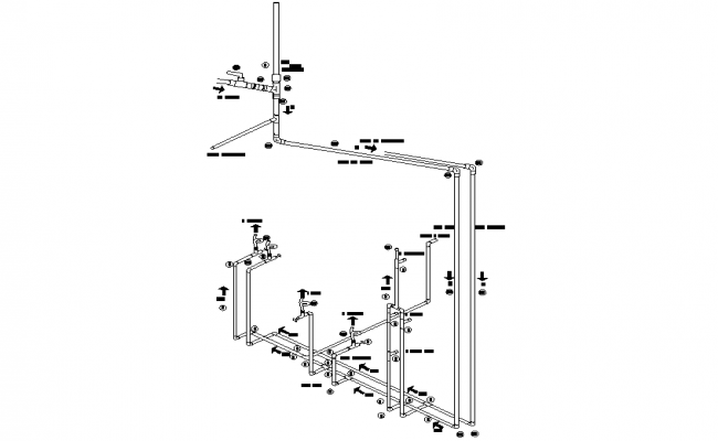 Water pipe line detail autocad file