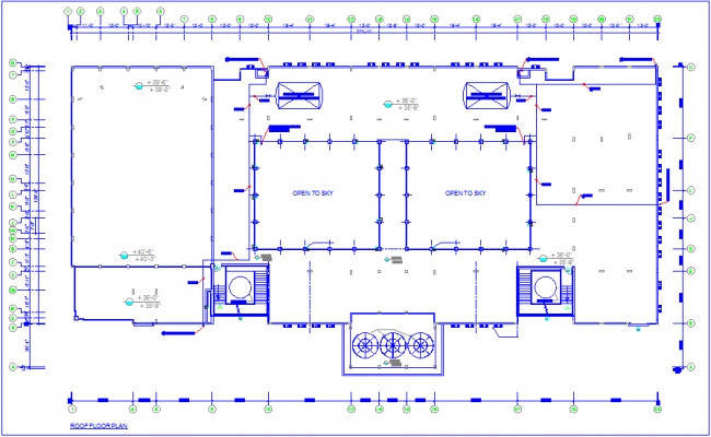 Water pipe line diagram for college roof top area plan dwg file