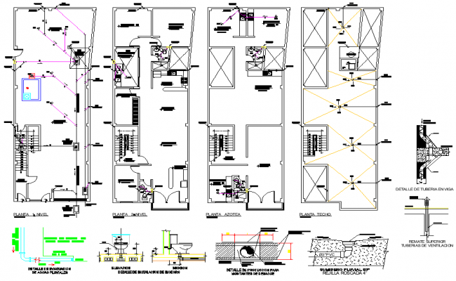 Water pipe line health facilities layout file