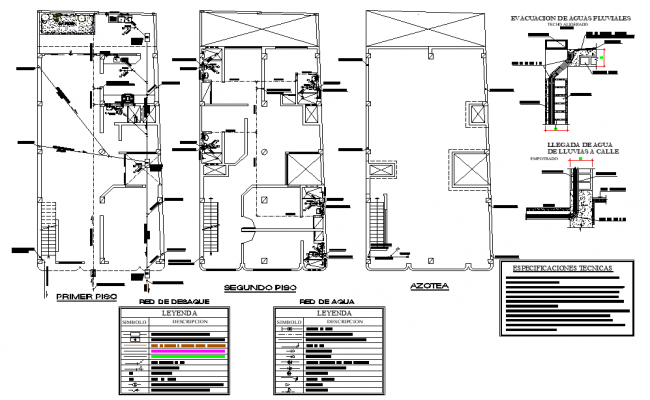 Water pipe line house detail dwg file