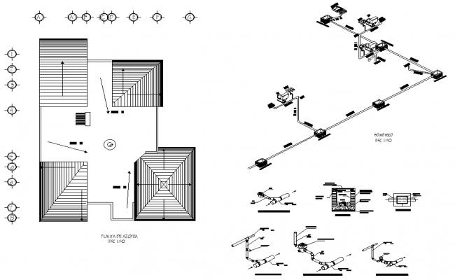 Water pipe line house terrace floor plan layout file