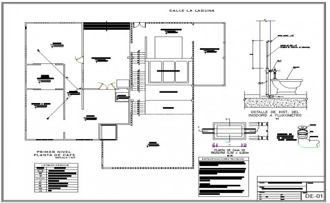 Water pipe line plan detail